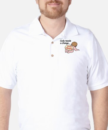 Cody Needs Change - Vote Obam Golf Shirt