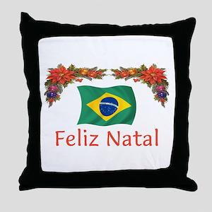 Brazil Feliz Natal 2 Throw Pillow