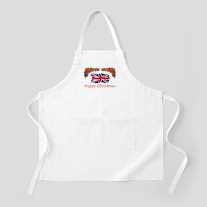 British Happy Christmas BBQ Apron