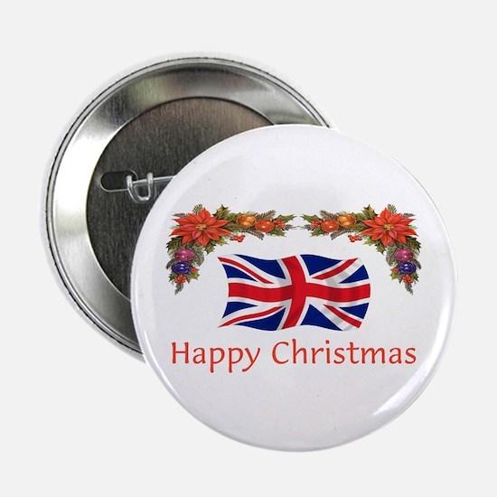 "British Happy Christmas 2.25"" Button"