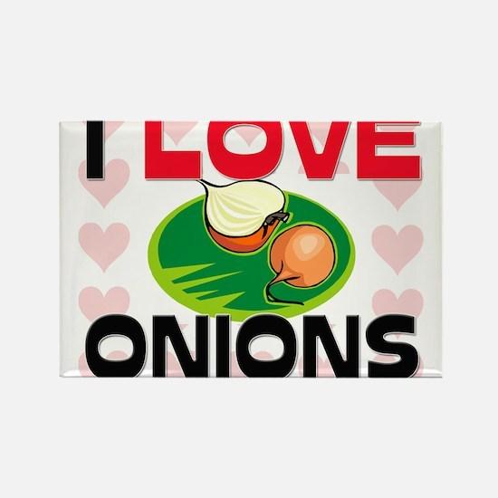 I Love Onions Rectangle Magnet