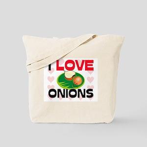 I Love Onions Tote Bag