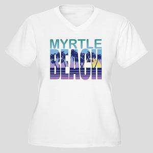 Myrtle Beach Women S Plus Size V Neck T Shirt