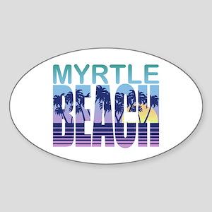 Myrtle Beach Oval Sticker