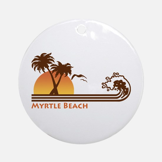 Myrtle Beach Ornament (Round)