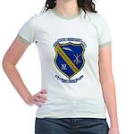 USS BADGER Jr. Ringer T-Shirt