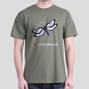 I Love Dragonflies Dark T-Shirt