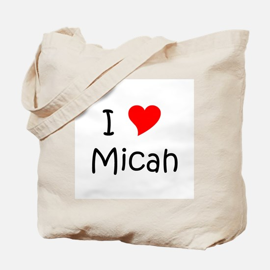 Cute I heart micah Tote Bag