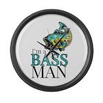 I'm a BASS MAN Large Wall Clock