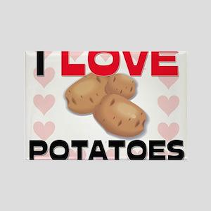 I Love Potatoes Rectangle Magnet