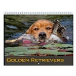 Golden Retriever Field Dog Wall Calendar