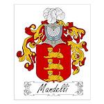 Mandelli Family Crest Small Poster