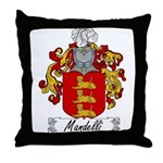 Mandelli Family Crest Throw Pillow
