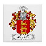 Mandelli Family Crest Tile Coaster