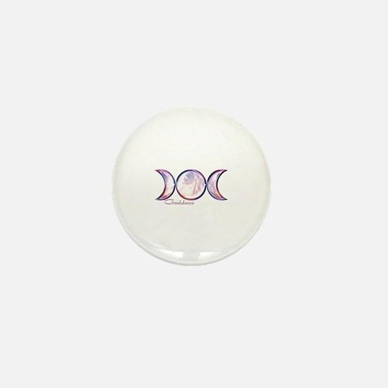Triple Moon Goddess Mini Button