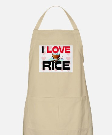 I Love Rice BBQ Apron
