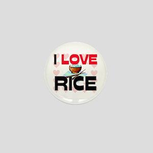 I Love Rice Mini Button