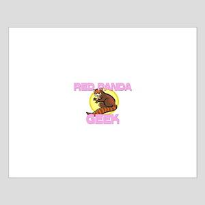 Red Panda Geek Small Poster