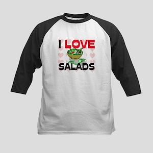 I Love Salads Kids Baseball Jersey