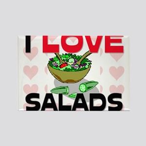 I Love Salads Rectangle Magnet