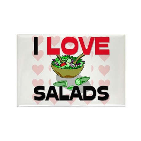 I Love Salads Rectangle Magnet (10 pack)