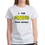 Stronger Than Cancer (yellow) Women's T-Shirt
