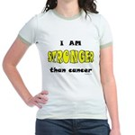Stronger Than Cancer (yellow) Jr. Ringer T-Shirt