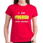 Stronger Than Cancer (yellow) Women's Dark T-Shirt