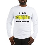 Stronger Than Cancer (yellow) Long Sleeve T-Shirt