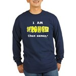 Stronger Than Cancer (yellow) Long Sleeve Dark T-S