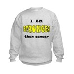 Stronger Than Cancer (yellow) Kids Sweatshirt