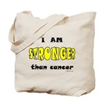 Stronger Than Cancer (yellow) Tote Bag