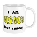 Stronger Than Cancer (yellow) Mug