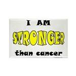 Stronger Than Cancer (yellow) Rectangle Magnet