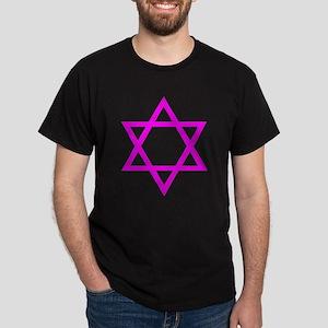 Magenta Star of David Dark T-Shirt
