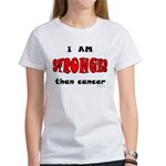 Stronger Than Cancer (red) Women's T-Shirt
