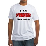 Stronger Than Cancer (red) Fitted T-Shirt