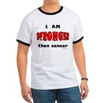 Stronger Than Cancer (red) Ringer T