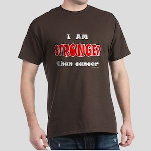 Stronger Than Cancer (red) Dark T-Shirt