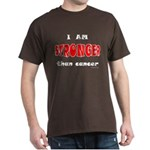 Stronger Than Cancer (red) Dark T-Shirt