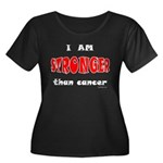 Stronger Than Cancer (red) Women's Plus Size Scoop