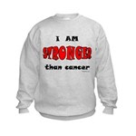 Stronger Than Cancer (red) Kids Sweatshirt