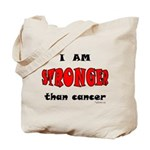 Stronger Than Cancer (red) Tote Bag