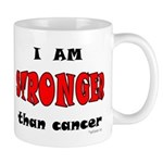 Stronger Than Cancer (red) Mug