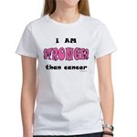 Stronger Than Cancer (pink) Women's T-Shirt