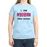 Stronger Than Cancer (pink) Women's Light T-Shirt