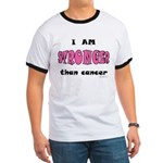 Stronger Than Cancer (pink) Ringer T