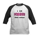 Stronger Than Cancer (pink) Kids Baseball Jersey