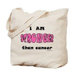 Stronger Than Cancer (pink) Tote Bag