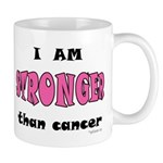 Stronger Than Cancer (pink) Mug